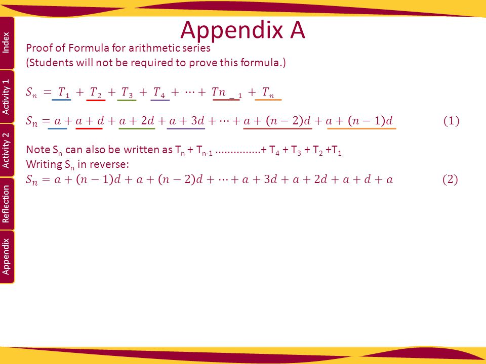 Activity 1 Activity 2 Index Reflection Appendix Appendix A