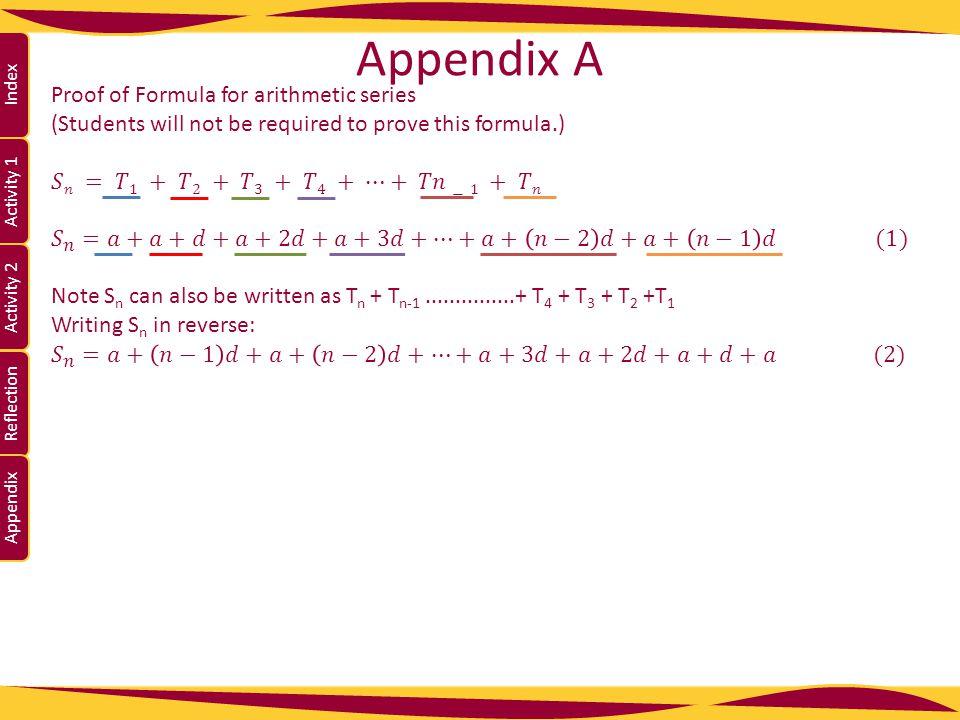 Activity 1 Activity 2 Index Reflection Appendix Appendix A Page 22