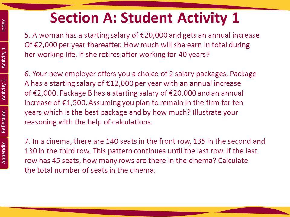 Activity 1 Activity 2 Index Reflection Appendix Section A: Student Activity 1 8.