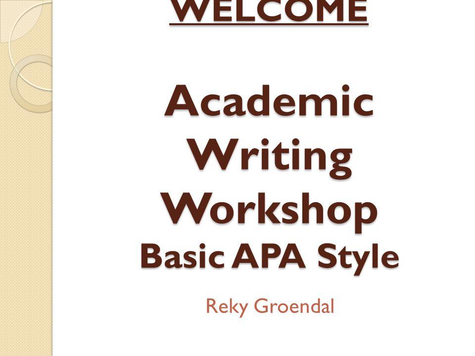 Resources ◦ APA Manual Sixth Edition ◦ http://owl.english.purdue.edu/owl/section/2/10/ ◦ http://www.lib.monash.edu.au/tutorials/citing/apa.html ◦ http://flash1r.apa.org/apastyle/basics/index.htm ◦ http://www.landmark.edu/Library/citation_guides/apa.cf m#quotewebsites
