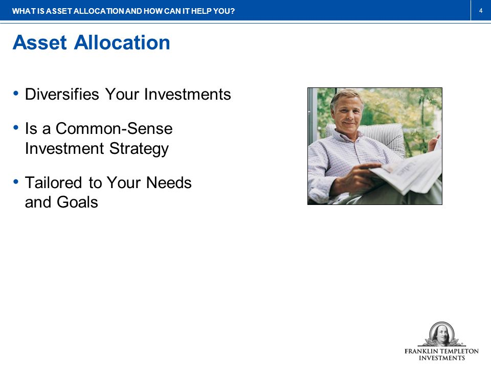 Asset Allocation WHAT IS ASSET ALLOCATION AND HOW CAN IT HELP YOU.