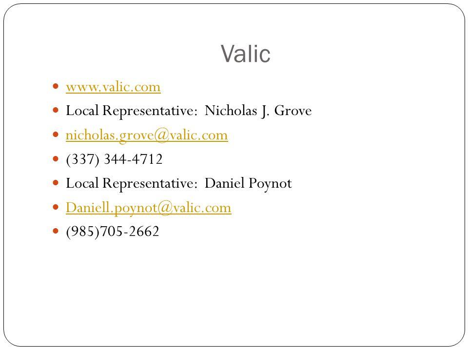 Valic www.valic.com Local Representative: Nicholas J.