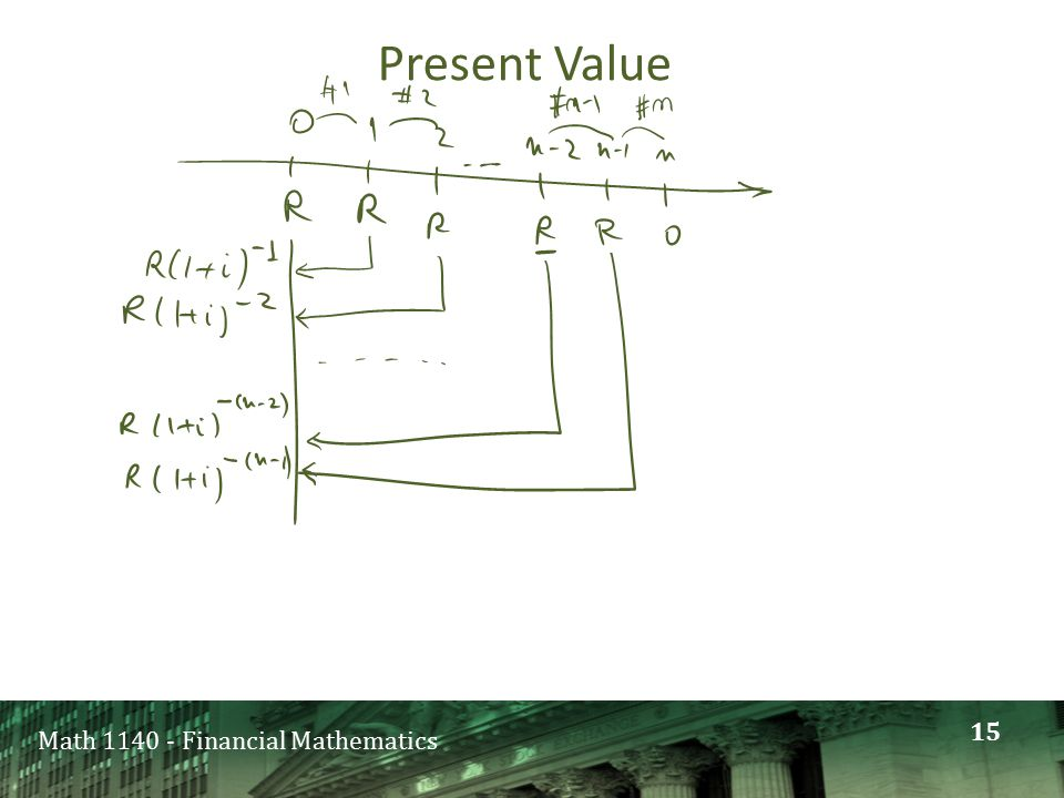 Math 1140 - Financial Mathematics Present Value 15