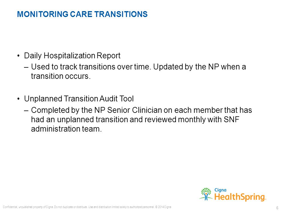 Daily Hospitalization Report –Used to track transitions over time.
