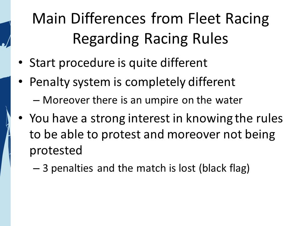 What is match racing.