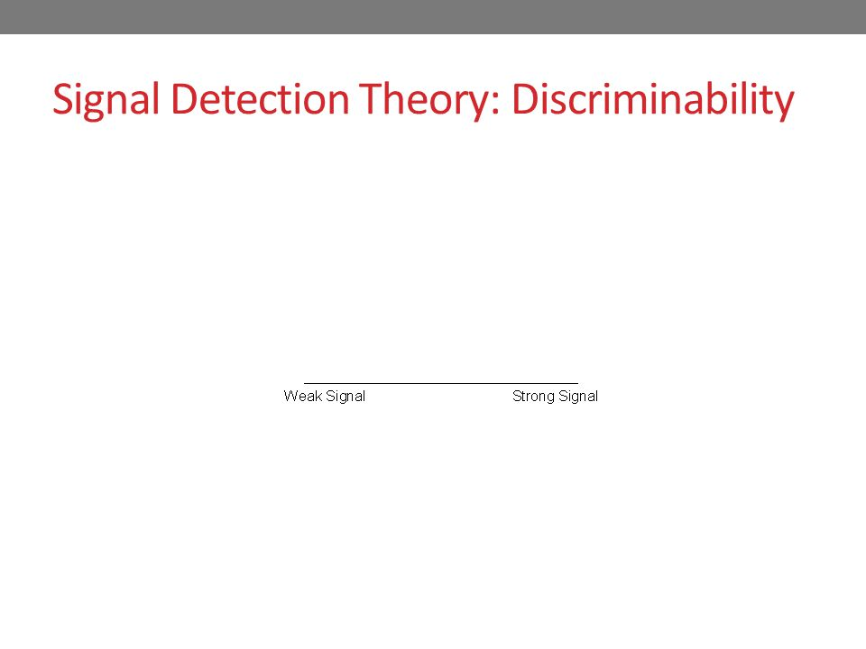 Signal Detection Theory: Discriminability