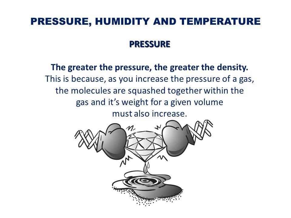 Cold air is denser than warm air.