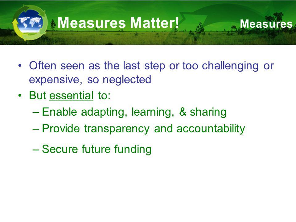Measures Matter.