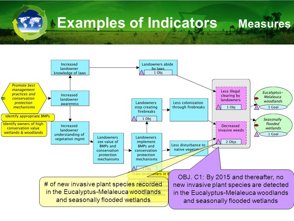 Examples of Indicators OBJ.