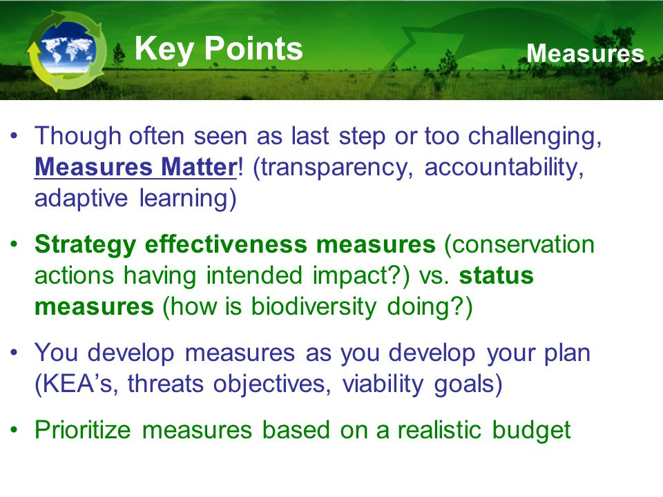 Though often seen as last step or too challenging, Measures Matter.