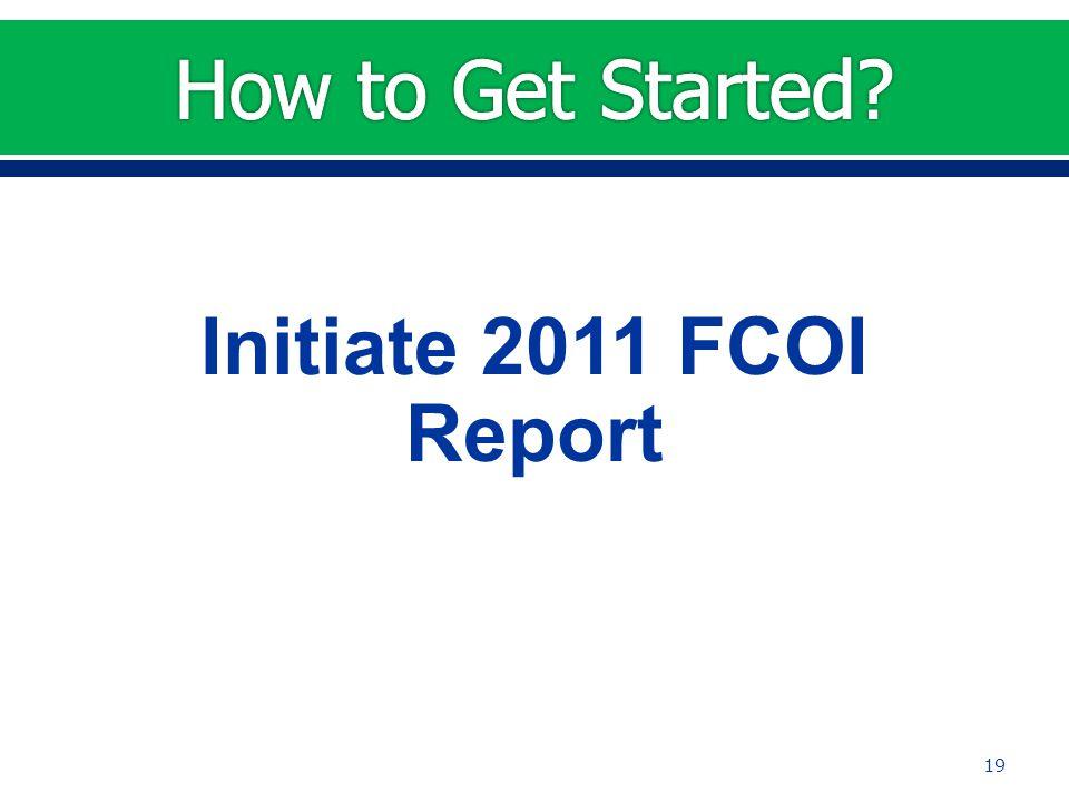 Initiate 2011 FCOI Report 19