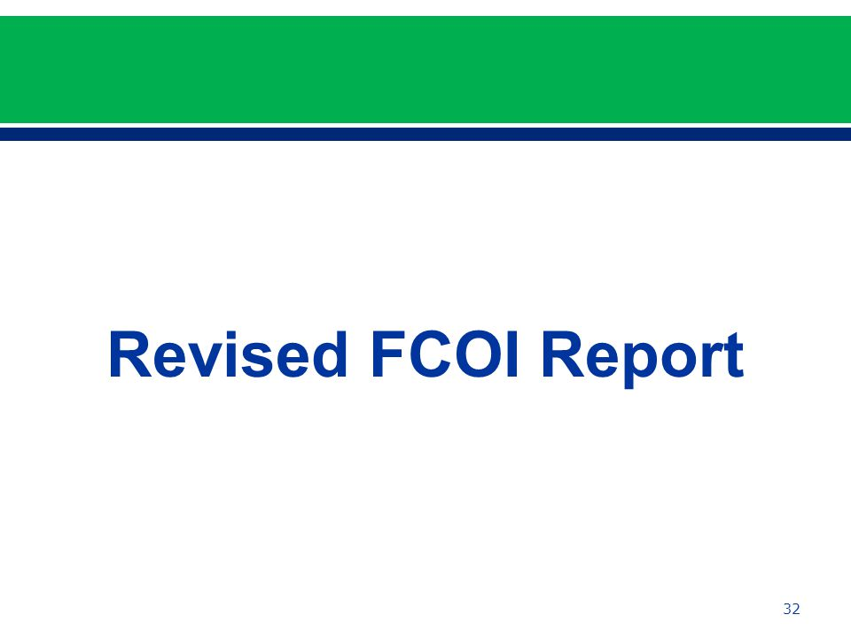 Revised FCOI Report 32