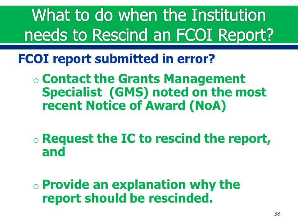 FCOI report submitted in error.