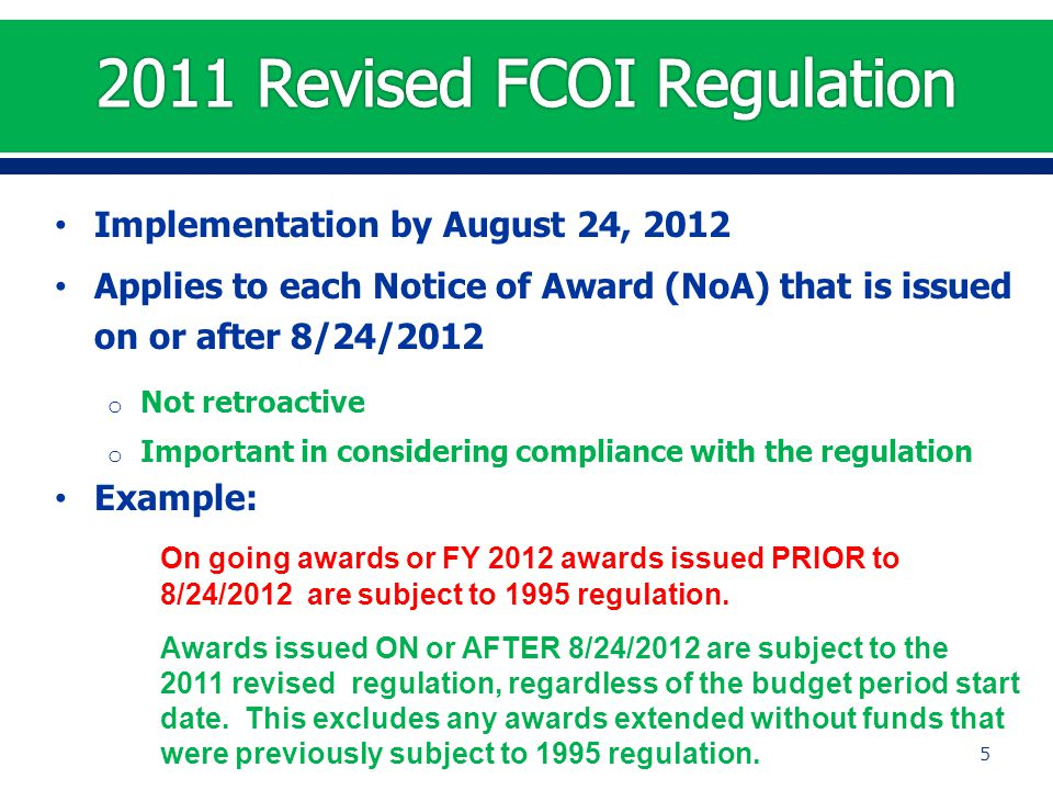 Rescind a Previously Submitted FCOI Report 36