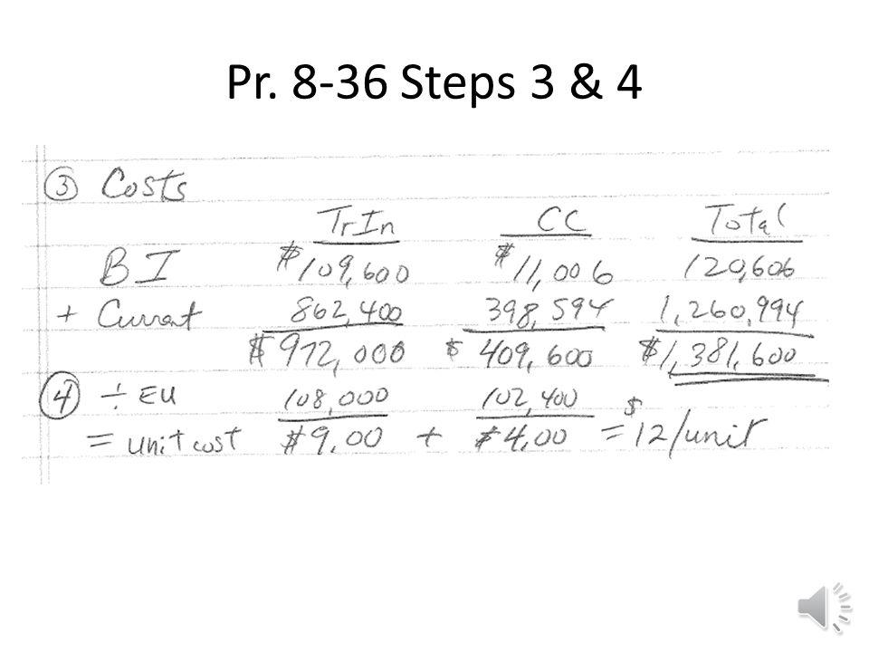 Pr. 8-36 Steps 1 & 2