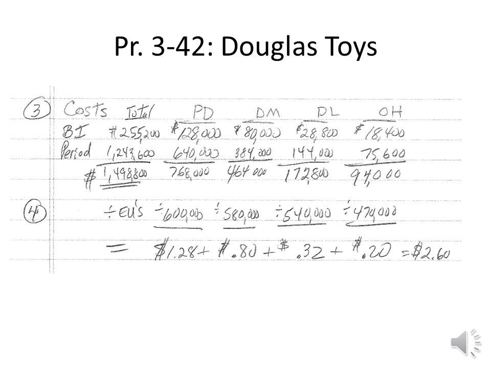 Pr. 3-42: Douglas Toys