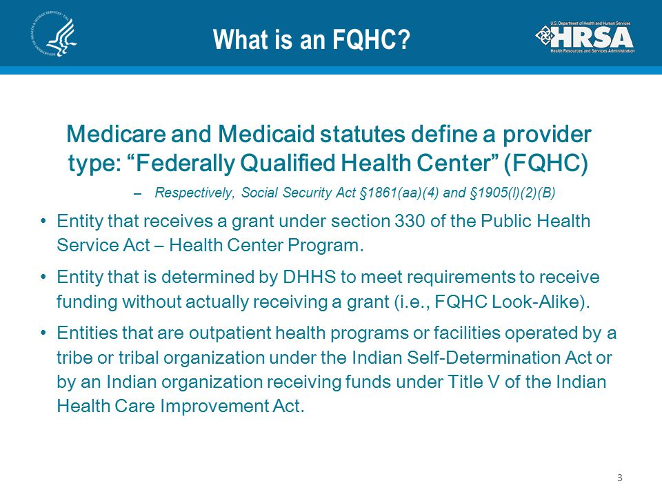 What is an FQHC.
