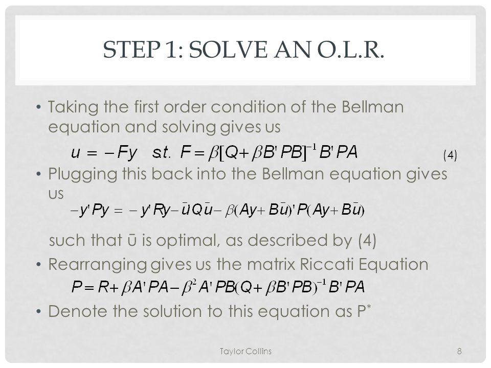 STEP 1: SOLVE AN O.L.R.