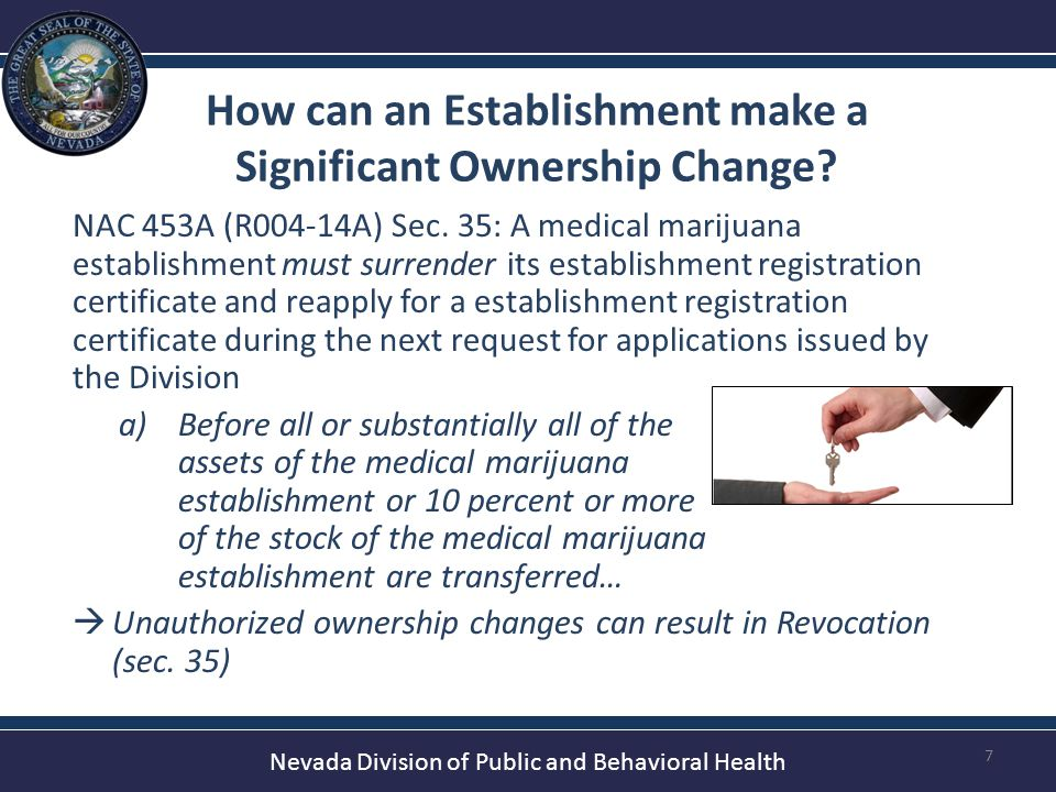Nevada Division of Public and Behavioral Health Additional Dispensaries.