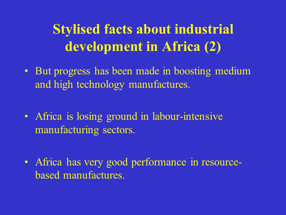 But progress has been made in boosting medium and high technology manufactures.