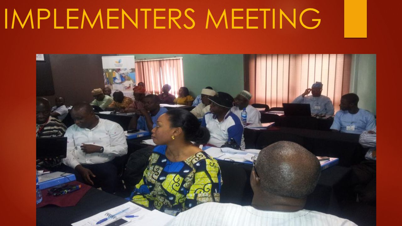 IMPLEMENTERS MEETING