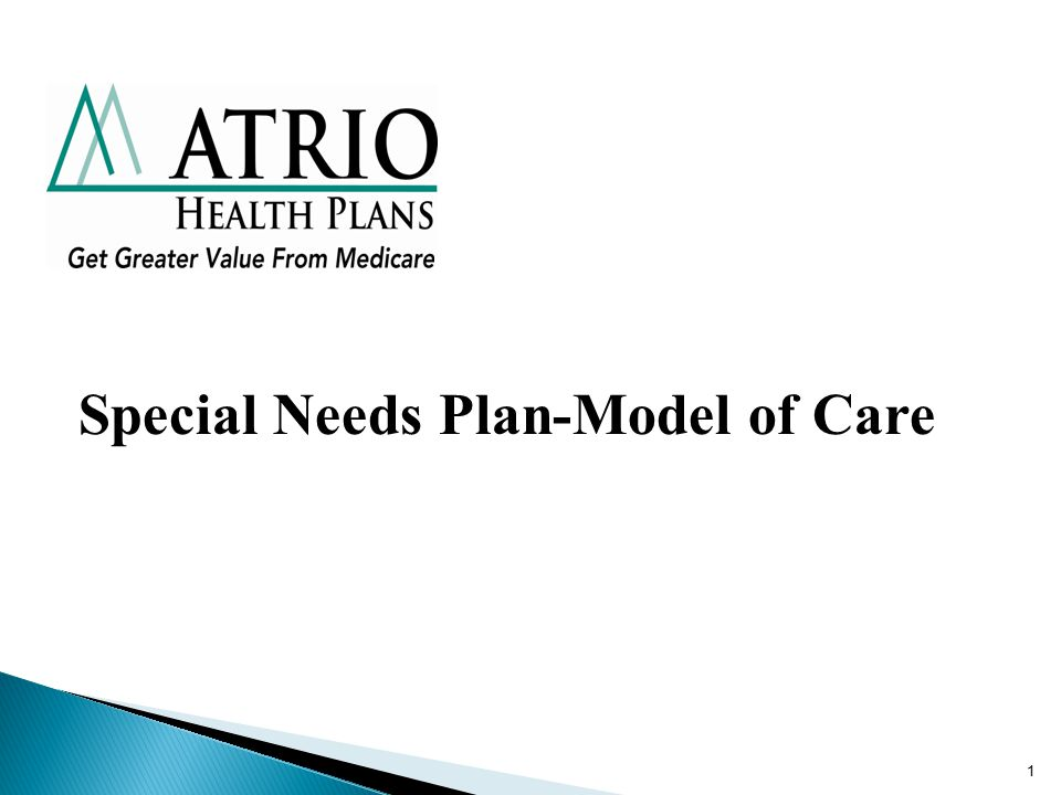 1 Special Needs Plan-Model of Care