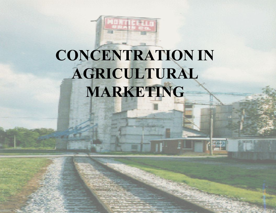 CONCENTRATION IN AGRICULTURAL MARKETING