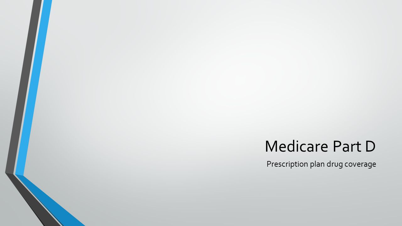 Medicare Part D Prescription plan drug coverage