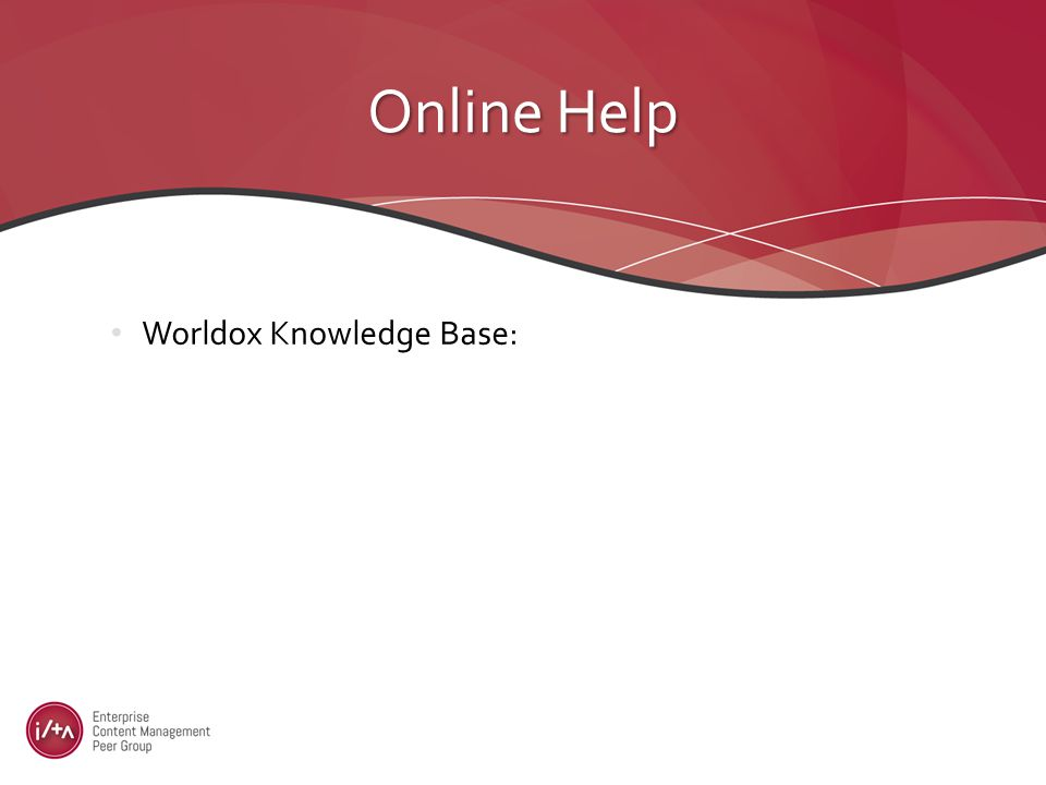 Worldox Knowledge Base: Online Help