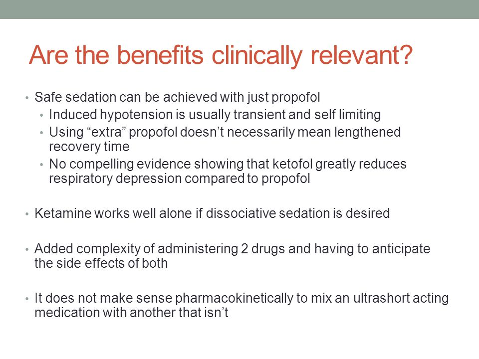 Are the benefits clinically relevant.