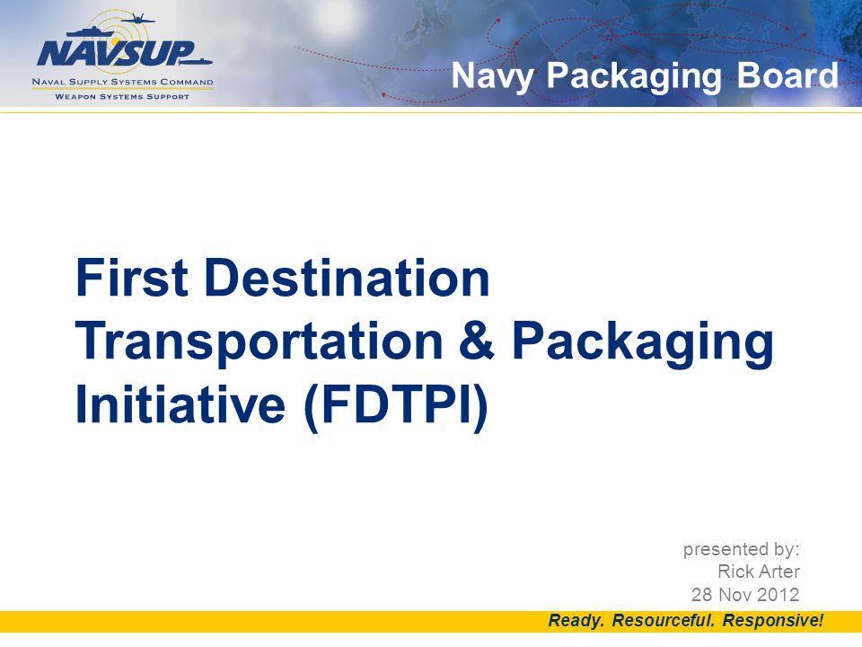 Navy Packaging Board DID YOU KNOW.