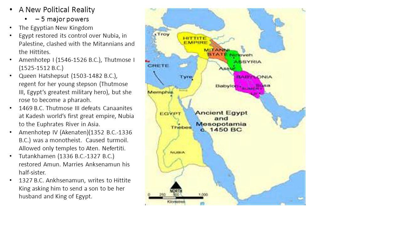 1400 B.C.- 1200 B.C. New Kingdom of the Hittites (the Hittite Empire).