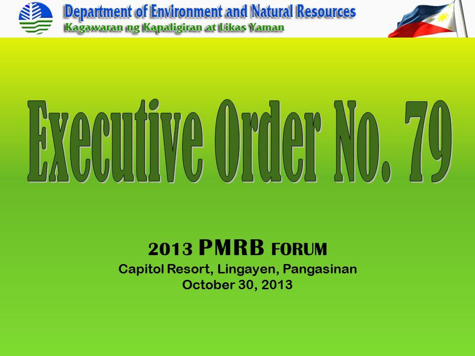 2013 PMRB FORUM Capitol Resort, Lingayen, Pangasinan October 30, 2013