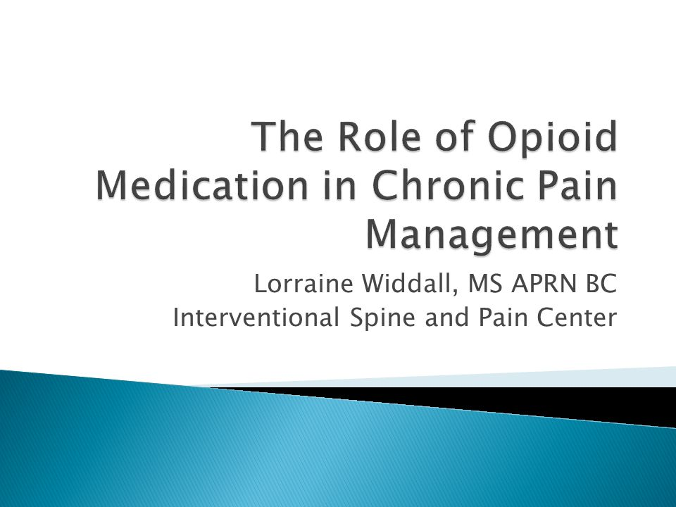 Lorraine Widdall, MS APRN BC Interventional Spine and Pain Center