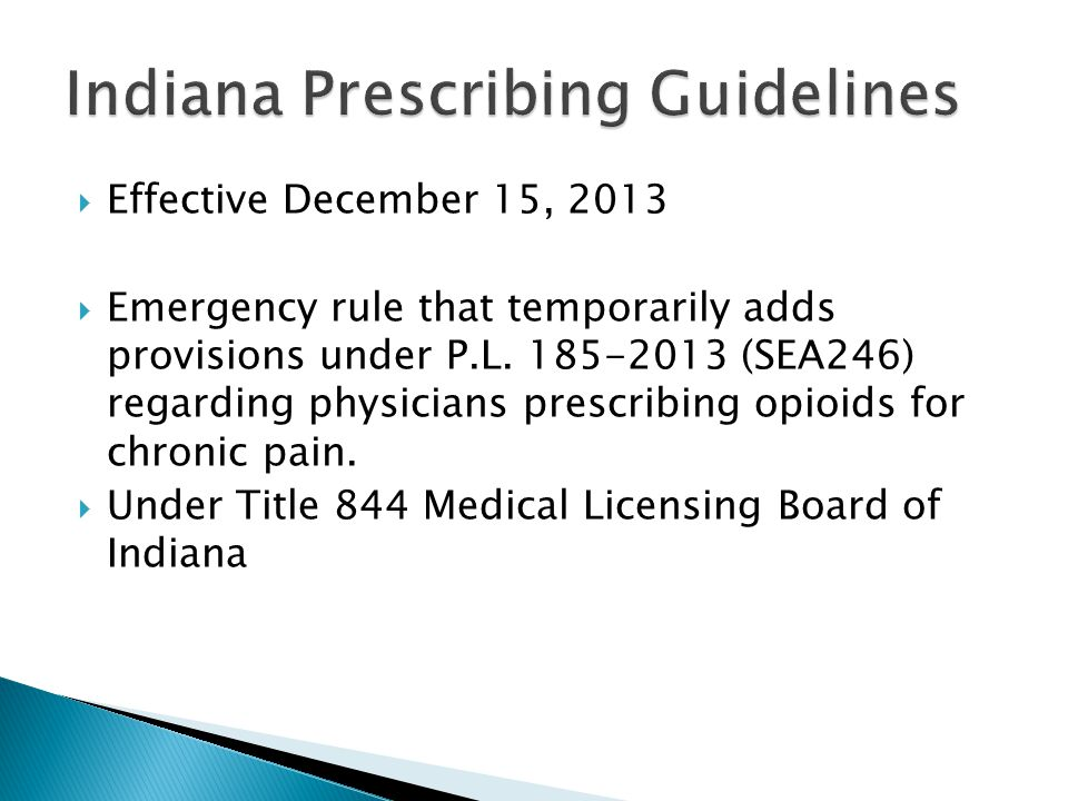  Effective December 15, 2013  Emergency rule that temporarily adds provisions under P.L.