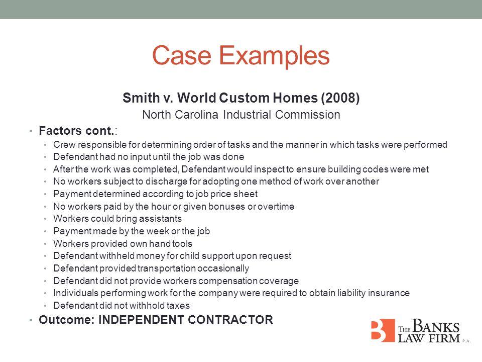 Case Examples Smith v.