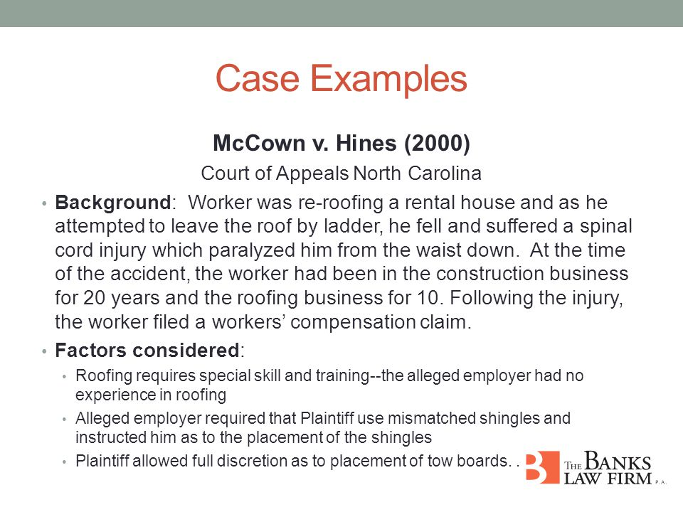 Case Examples McCown v.