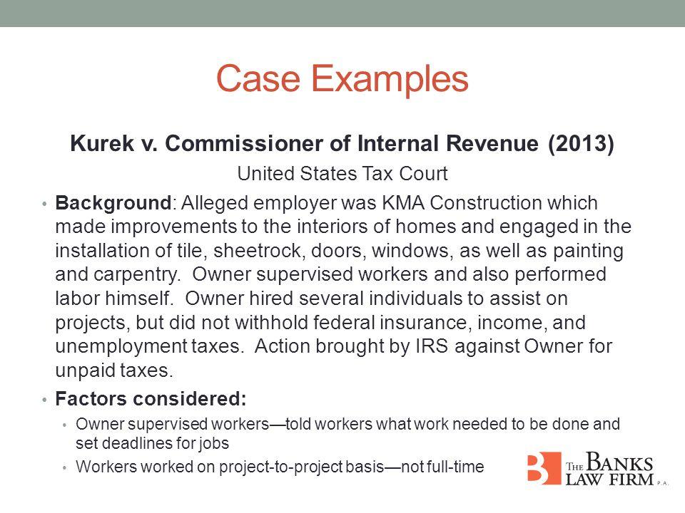 Case Examples Kurek v.