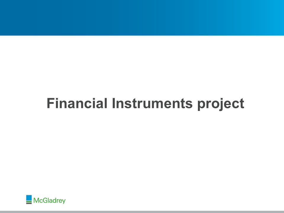 © 2013 McGladrey LLP. All Rights Reserved. Financial Instruments project
