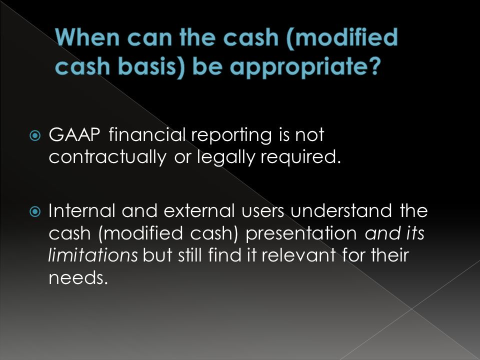 GAAP financial reporting is not contractually or legally required.