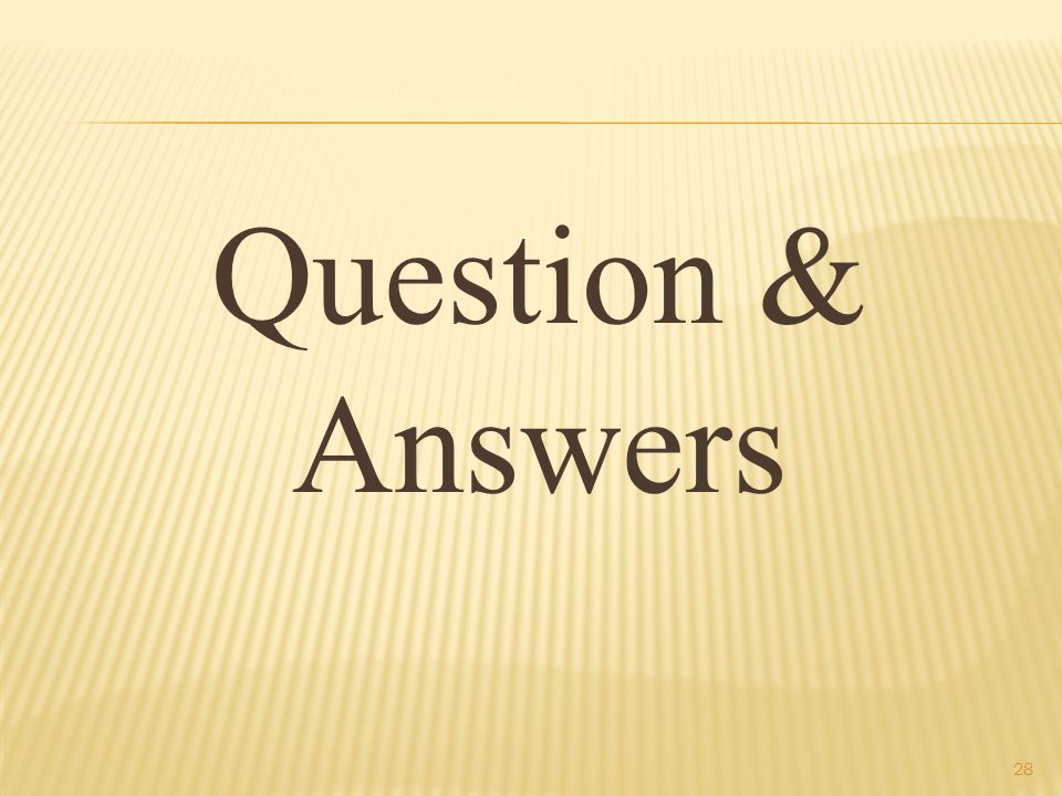 Question & Answers 28