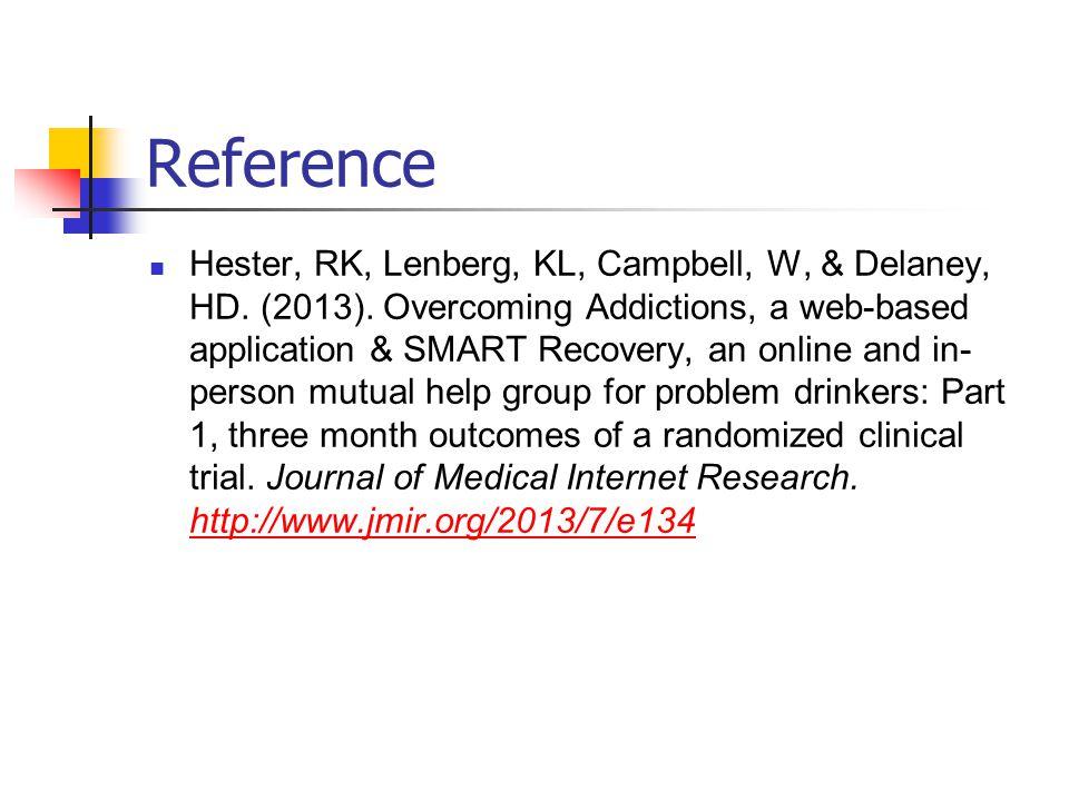 Reference Hester, RK, Lenberg, KL, Campbell, W, & Delaney, HD.