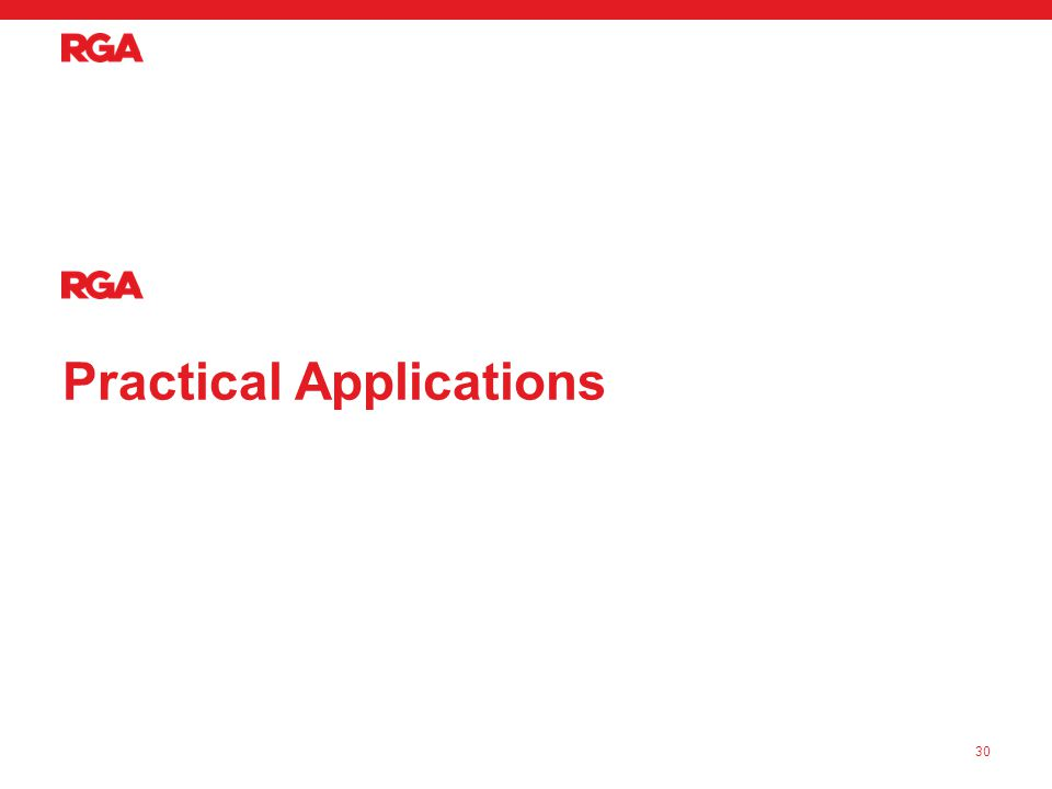 Practical Applications 30