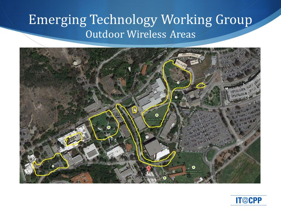 Emerging Technology Working Group Outdoor Wireless Areas