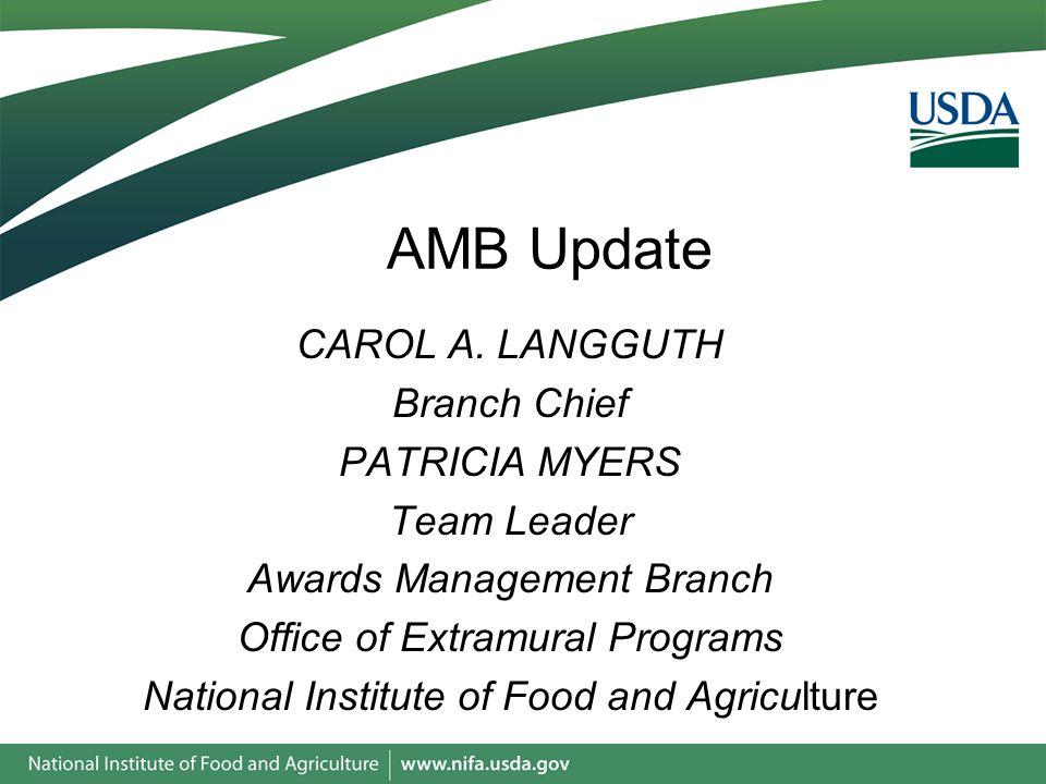 AMB Update CAROL A.
