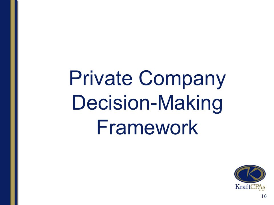 10 Private Company Decision-Making Framework