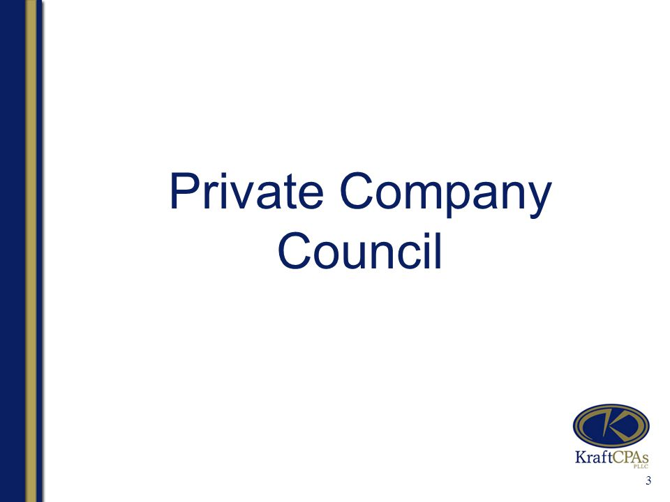 3 Private Company Council