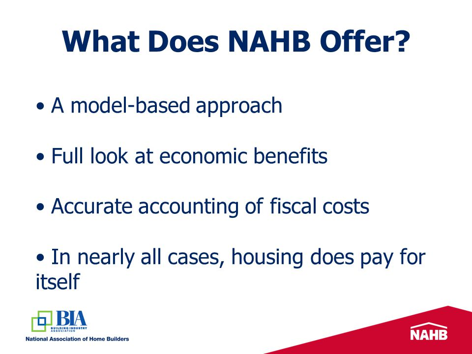 What Does NAHB Offer.