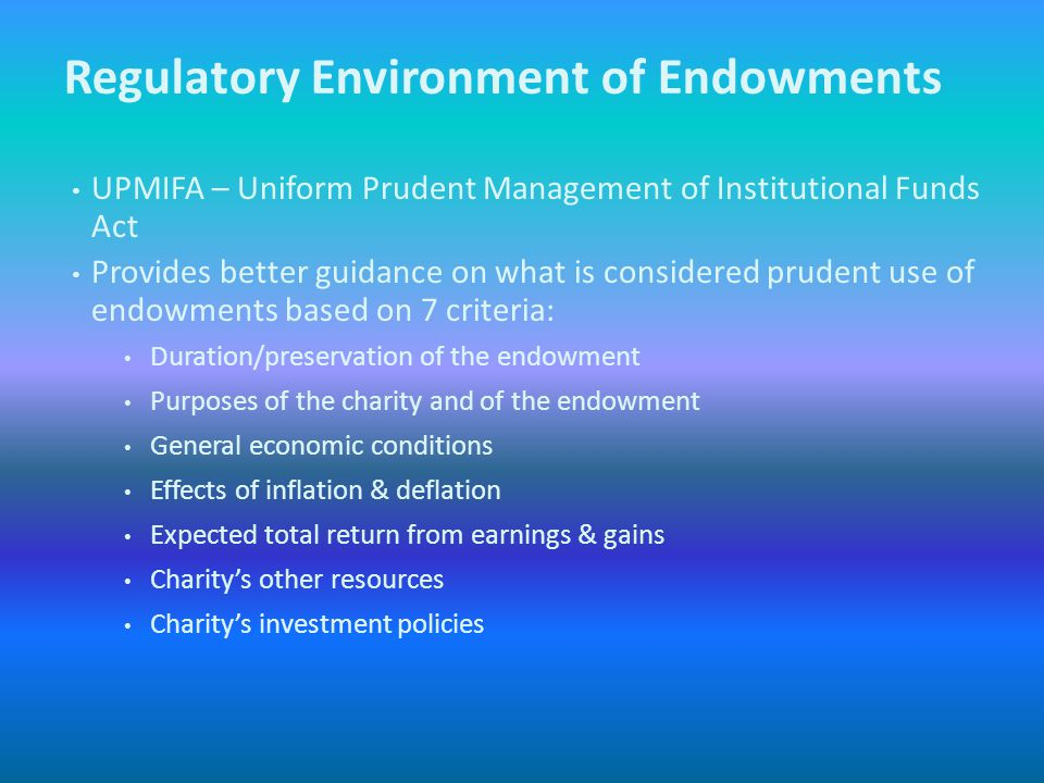 When you think of endowments do you turn into one of these people