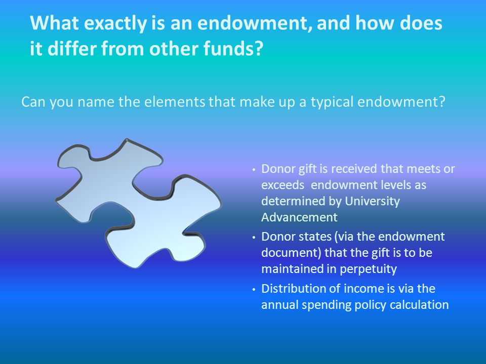 How Does UNCC Manage Underwater Endowments?